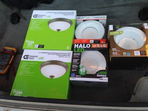 LED Fixture Testing Halo Cree Ecosmart