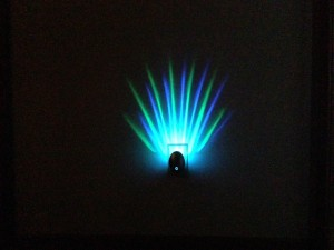 Meridian LED Projector Nightlight Green Blue