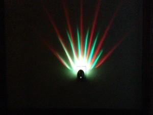 Meridian LED Projector Nightlight Red Green
